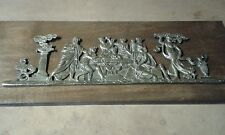 Ancienne plaque  bronze dans le goût de l antique allégorie de la luxure XIXe 2
