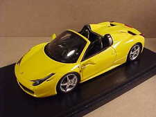 Fujimi 1/43 Ferrari 458 Open Top Spider, Yellow  #FJM124321