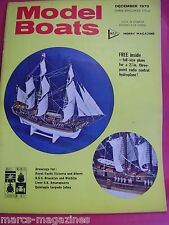 MODEL BOATS DECEMBER 1970 WITH ZING RAY HYDROFOIL PLANS  USS BROOKLYN WICHITA