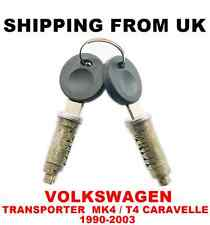 2x DOOR LOCK BARREL SET + 2 KEYS VW TRANSPORTER MK4 T4 IV CARAVELLE 1990-2003