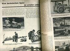 "Thema Spielzeug in :""TECHNIK VORAN ! "" 1931 MÄRKLIN Metallbau STEIFF Edison gest"