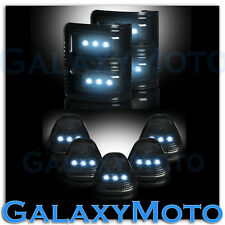 08-15 Ford Super Duty SMOKE Lens WHITE LED Mirror Turn Signal+5pcs Cab LED Light
