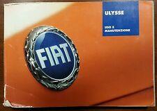 """Libretto di uso e manutenzione Fiat """"Ulisse"""""""