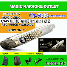 MAGIC SING KARAOKE MIC ED-7000 WITH FM MODULE 1,945 SONGS + FREE 1 SONG CHIP