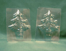 MINI TREE CHOCOLATE MOULD/MOLD - Christmas cake decorating/sweet making. Pk of 2