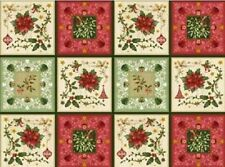 'THE GIVING QUILT' SAMPLER PANEL FABRIC - RED ROOSTER