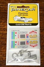 PineCar Pinewood Derby P332 Phantom Custom Parts with Decals NEW SEALED