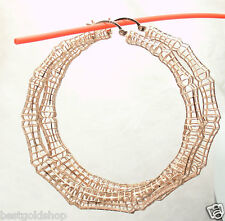 "2.50"" Technibond Large Bamboo Filigree Hoop Earrings 14K Rose Gold Clad Silver"
