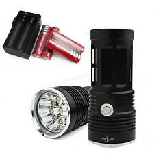 4 x 18650 + Charger + SKYRAY 25000LM 10 x CREE XM-L T6 LED Flashlight Torch