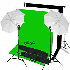 Photo Studio Background Support Black White Green Screen Lighting Stand Kit Set