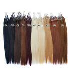"""18""""-20"""" 100s Remy Easy Loop Micro Ring Real Straight Human Hair Extension 0.5g/s"""