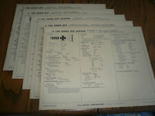 1969 Kaiser Jeep Jeepster Sun Electric Tune-Up System  5 Charts