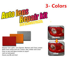 Universal Car Lens Repair Tool Kit 3 Colors Multi-Pack For Tail Light Clear Lens