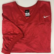 Nike Mesh Jersey Football Practice XL Red Shirt Athletic Sports Active Wear