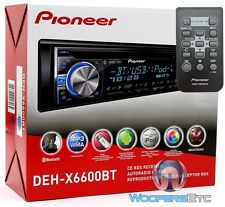 PIONEER DEH-X6600BT CD MP3 USB IPHONE AUX WMA IPOD BLUETOOTH EQUALIZER PANDORA