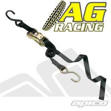 Raceline Tie Down Strap Ratchet Black 5.5ft 1.8m Long