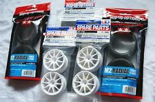 TAMIYA 1/10 RC CAR TIRE(53227)+WHEEL(50732)+foam INNER(53295) M2 Radial+wheel