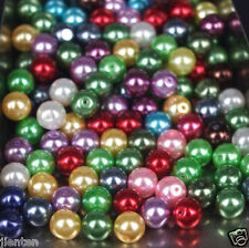 20Pcs Colorful Czech Glass Gemstone Pearl Round Spacer  Loose Beads DIY 12Mm