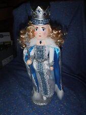 2016 Nutcracker Princess with Sceptor Crown Blue White 13 1/4 Inch High
