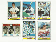 VINTAGE 1979 TOPPS BASEBALL CARDS – DETROIT TIGERS - MLB