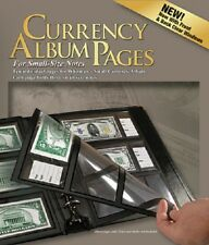 HE Harris 10 REFILL PAGES For Currency Album Modern Notes Banknotes 3 Pockets