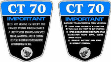 CT70 KO CT-70H  69,70,71 frame decals, graphics, frame warning BLUE