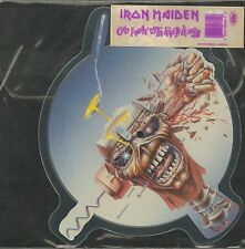 "IRON MAIDEN SHAPED Picture Disc ""Can I Play With Madness"" b/w ""Black Bart Blues"""