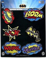 BATMAN action bursts 6 IRON-ON MINI PATCH SET **FREE SHIPPING** pdc131s dc comic