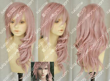 New Final Fantasy 13 Lightning serah New Long Mix pink Cosplay Wig Hair