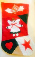 BNWT New Red Christmas Stocking – Shooting Star, Angel, Heart, Star