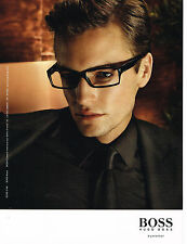 PUBLICITE ADVERTISING 025  2008  HUGO BOSS  collection lunettes homme