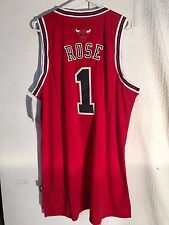 Adidas Swingman NBA Jersey Chicago Bulls Derrick Rose Red sz XL