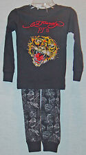 ED HARDY TODDLER BOYS BLACK TIGER PAJAMAS SIZE 2-3 NEW WITH TAGS