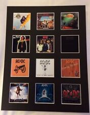 "AC/DC 14"" BY 11"" LP DISCOGRAPHY COVERS PICTURE MOUNTED READY TO FRAME"