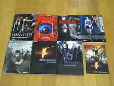 BIOHAZARD 0/6 ARTBOOK GUIDE SET X7 JAPAN RESIDENT EVIL ZOMBIE CAPCOM PS3 PS2 PS1