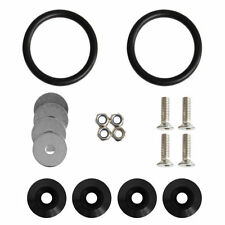 Black Quick Release Fasteners Kit For Car Bumpers Trunk Fender Hatch Lids