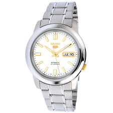 SEIKO MEN AUTOMATIC SEE THRU SILVER STEEL WATCH SNKK09 SNKK09K1