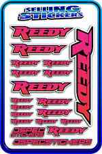 REEDY RC STICKERS DRIFT TOURING MOTOR ESC BATTERY 1/12 1/10 RACE PINK RED BLACK