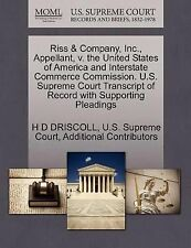 Riss and Company, Inc. , Appellant, V. the United States of America and...