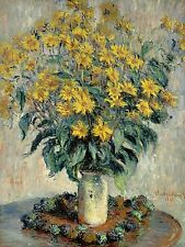 CLAUDE MONET FRENCH JERUSALEM ARTICHOKE FLOWERS OLD ART PAINTING POSTER BB5134A