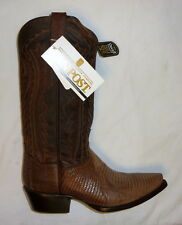 Dan Post DP2357 Size 7D Mens Hickory Lizard Skin Cowboy Western Boots BROWN NEW