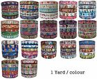5 Yards 22/25mm MIXED Cartoon Grosgrain Ribbon CHOOSE FAIRY OWL PRINCESS US