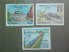 GUATEMALA Scott #C765-7  used Railroads/Trains/Bridges