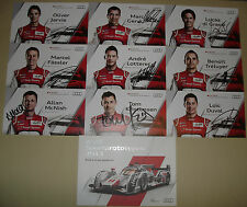 Le Mans 2013 WEC Winners Audi #1 #2 #3 Complete Signed Cards Set & Media Guide