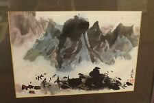Hand painted Original watercolor painting Signed / Framed -- Auction Find