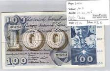 BILLET SUISSE - 100 FRANCS - 25-10-1956 - 1ER JOUR D'EMISSION - RARE!!!!