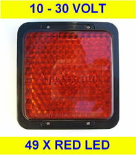 RED REAR BRAKE 49 x LED Light Lamp 10 - 30 Volt 12v 24v