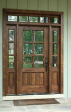 KNOTTY ALDER 6 LITE COTTAGE ENTRY DOOR UNIT 36'X80""