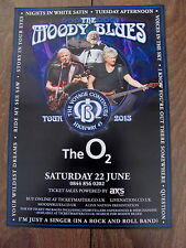 THE MOODY BLUES HIGHWAY 45 VOYAGE CONTINUES WORLD TOUR 2013 LONDON A4 POSTER