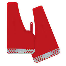 RED Car van Mudflaps mud flap rally guards style with Alloy strip mud flaps pair